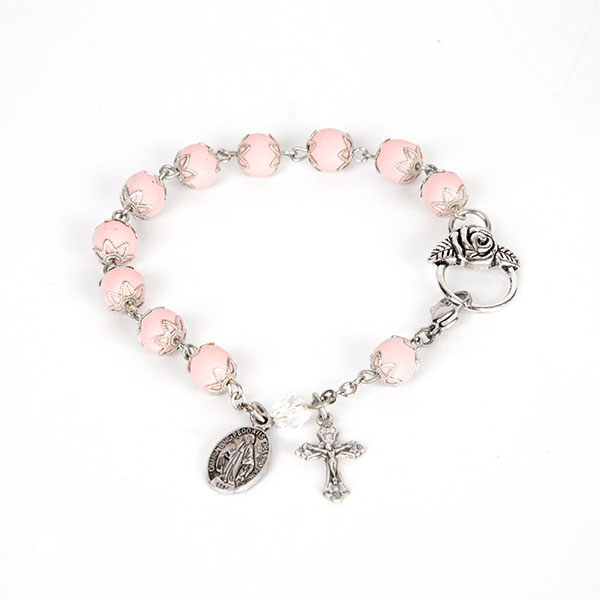 rosaries made from flowers, rosaries made from roses, bracelet made from flowers